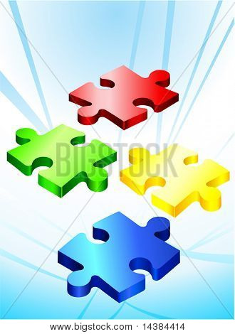 Incomplete Puzzle Pieces Original Vector Illustration Incomplete Puzzle