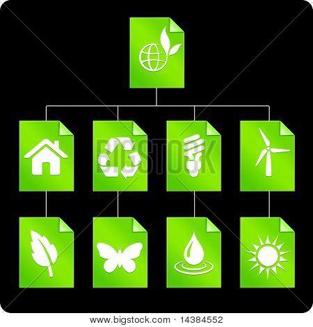 Environmental Paper Diagram Original Vector Illustration