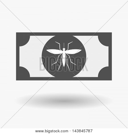 Isolated  Bank Note Icon With  A Mosquito