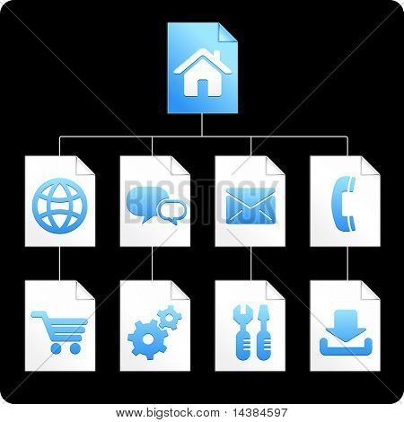 Internet Icons Paper Diagram Original Vector Illustration AI 8 Compatible File