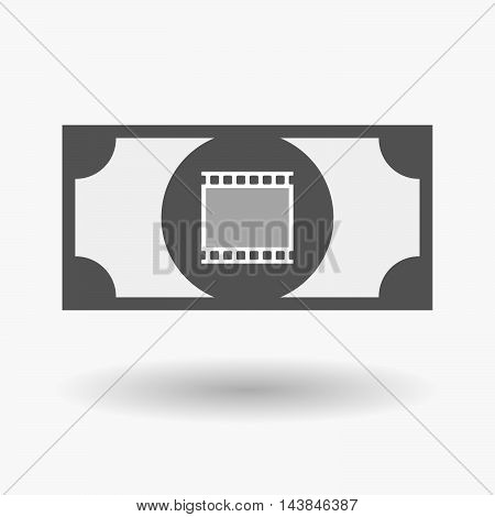 Isolated  Bank Note Icon With   A Photographic 35Mm Film Strip