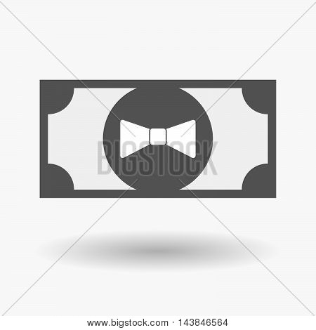Isolated  Bank Note Icon With  A Neck Tie Icon