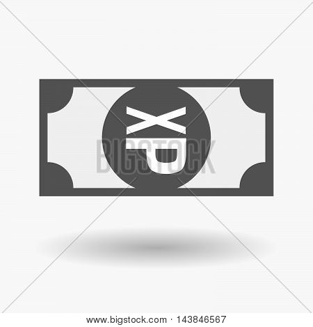 Isolated  Bank Note Icon With  A Tongue Sticking Text Face Emoticon