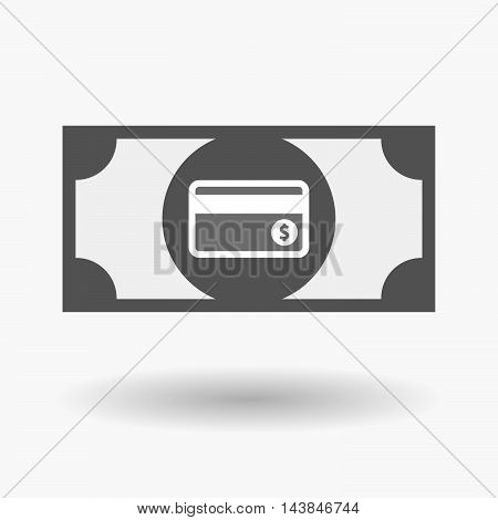 Isolated  Bank Note Icon With  A Credit Card