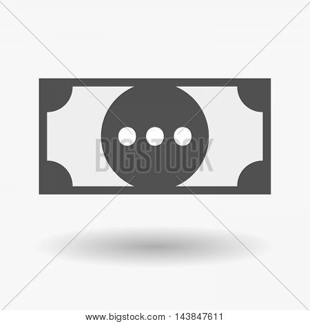 Isolated  Bank Note Icon With  An Ellipsis Orthographic Sign