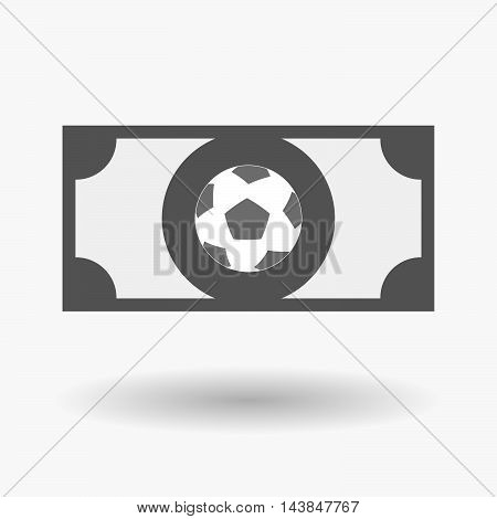 Isolated  Bank Note Icon With  A Soccer Ball