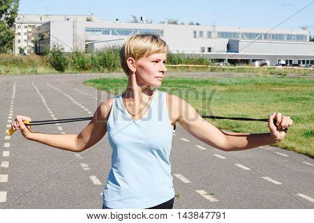 Female Athlete On A Treadmill