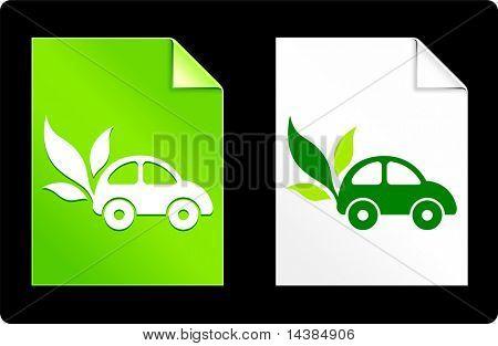 Auto auf Papier Set Original Vektor-Illustration AI 8 kompatible Datei