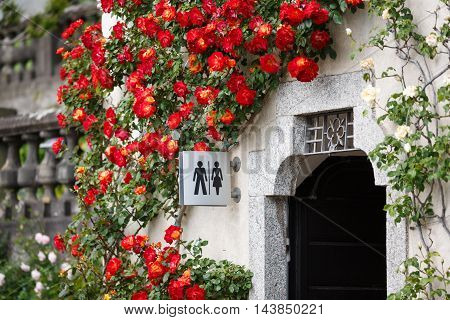 Varenna Italy - May 06 2016: The toilet in a garden of Villa Monastero spring time
