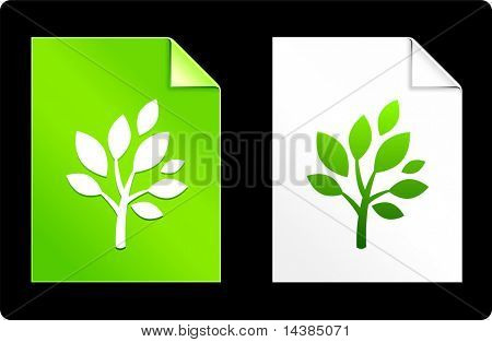 Tree on Paper Set Original Vector Illustration