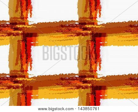 Rough Brush Brown Checkered