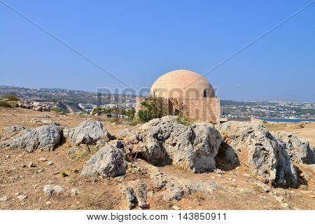 Rethymno city Greece Fortezza fortress Mosque landmark architecture