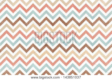 Watercolor Brown, Pink, Beige And Blue Stripes Background, Chevron.