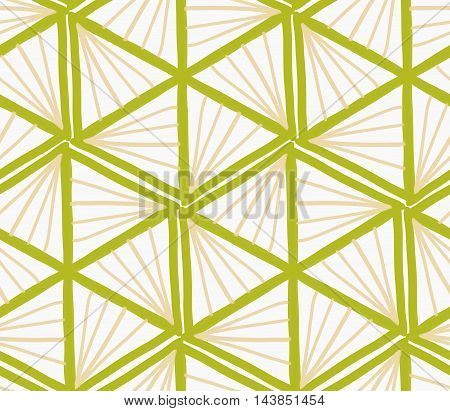 Painted Green Marker Triangles Forming Hexagons