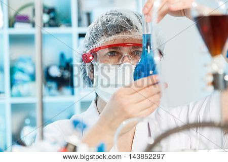 Woman in chemical laboratory