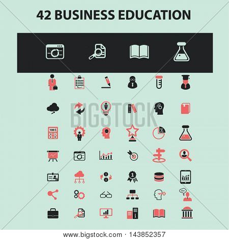 business education icons