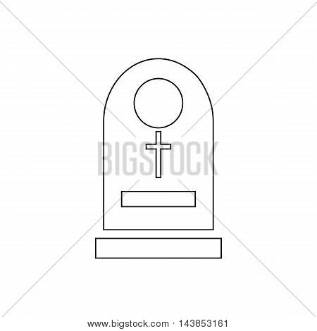 Tombstone icon in outline style isolated on white background