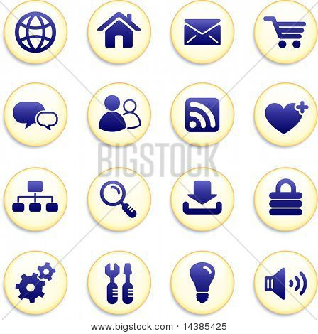 Internet Icon Buttons Original Vector Illustration Buttons Collection