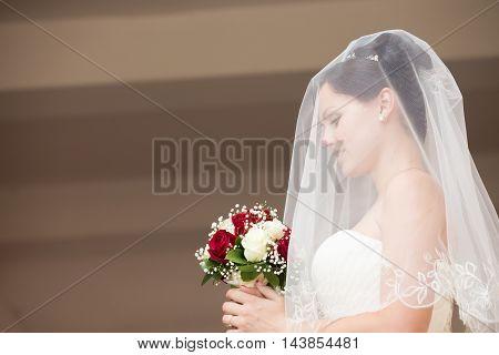 Beautiful Bride Profile Portrait