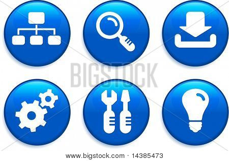 Internet Icons Buttons Original Vector Illustration Buttons Collection