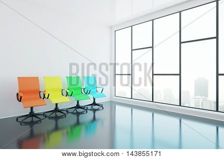 Swivel Chairs In Room Side