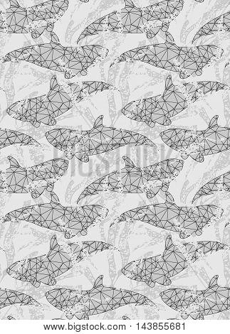 Underwater Fish Triangular Gray