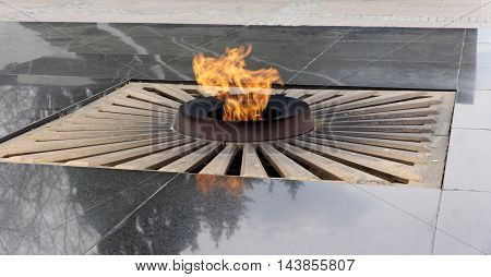 The eternal flame in the Nizhny Novgorod Kremlin. Russia
