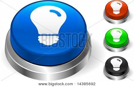 Light Bulb Icon on Internet Button Original Vector Illustration Three Dimensional Buttons