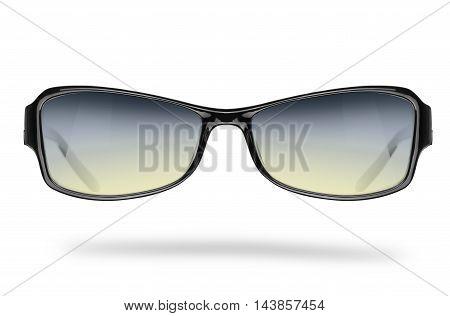 Sports elegant sunglasses isolated on white background
