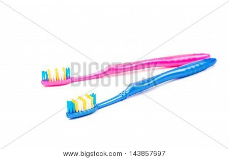 toothbrush  medicine, equipment, lifestyle on white background