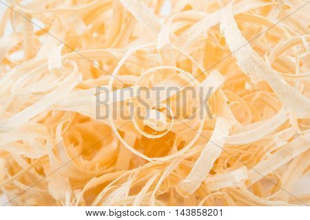 Wood chips variation isolated on white background