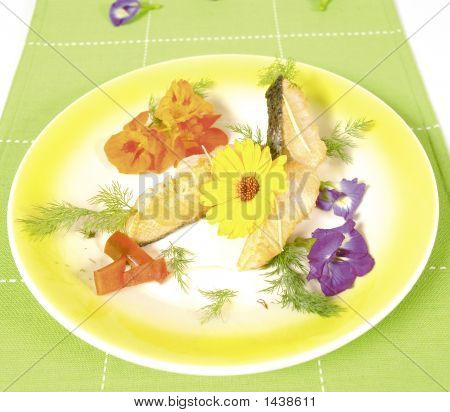 Salmon With Flowers