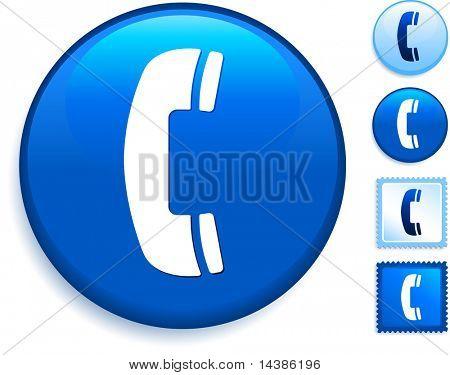 Phone Icon on Internet Button Original Vector Illustration