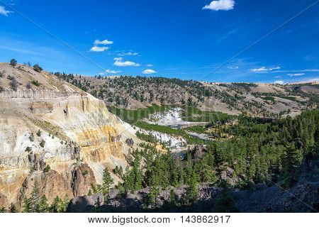 Yellowstone River In Wide Canyon