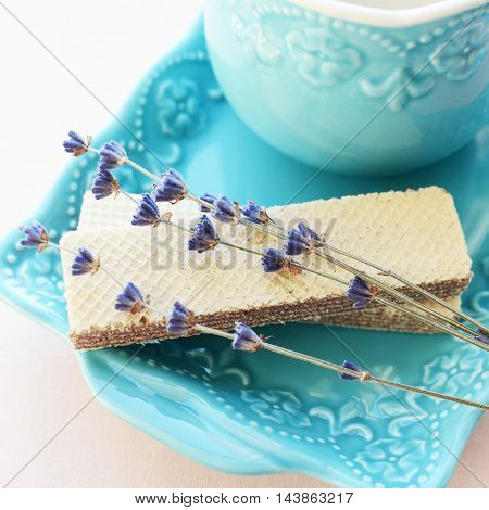 Wafers With Lavender And Tea