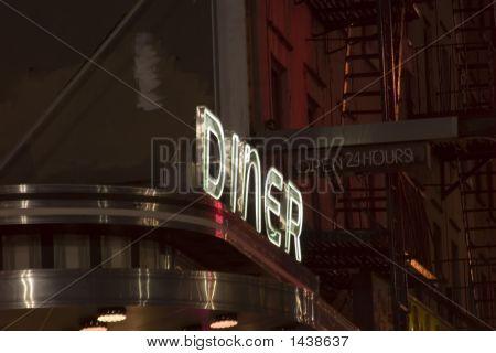 Neon Sign: Diner