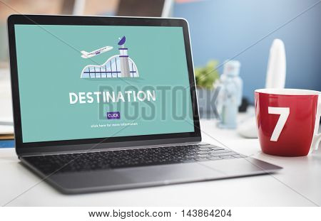Destination Business Trip Flights Travel Concept