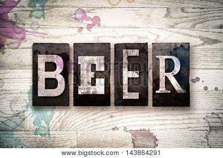 Beer Concept Metal Letterpress Type