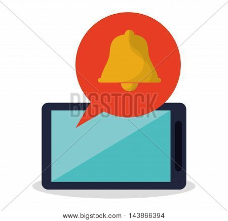 smartphone bell mail message email send communication icon. Colorful design. Vector illustration