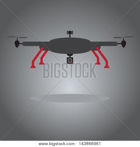 Drone for  flying camera and video. Vector