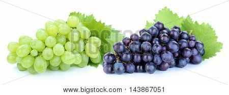 Grapes Green Blue Fruits Fruit Isolated On White