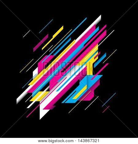 Modern style abstraction with colorful design. Vector illustration.