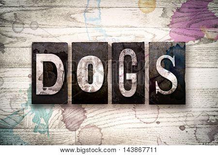 Dogs Concept Metal Letterpress Type