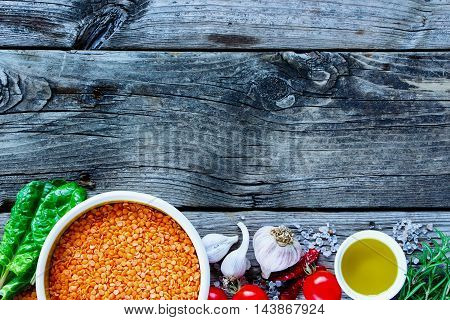 Red Lentil And Ingredients