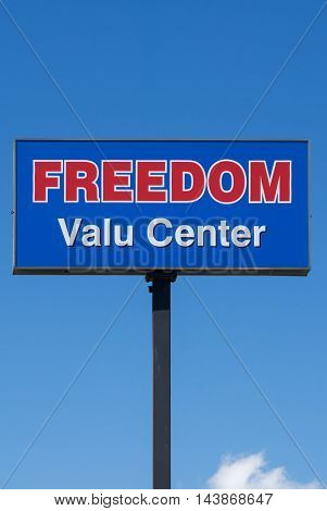 Freedom Valu Center Sign And Logo