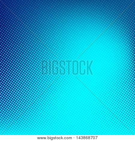 Blue cyan vector halftone background. Creative  illustration