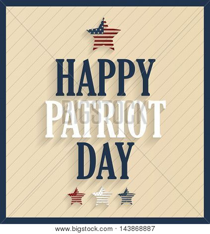 Patriot Day retro poster. 9/11. Vector illustration.