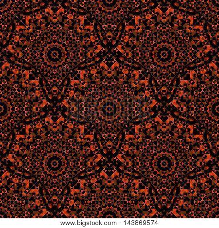 Abstract Seamless Red Orange Black Geometric Vector