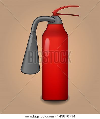 Fire extinguisher stylized isolated illustration on beige background