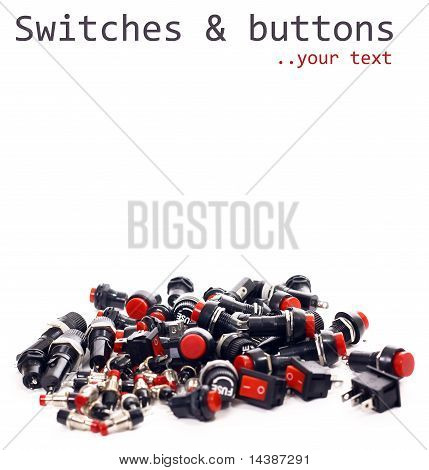 Switches, Buttons, Fuses, Electronic Components